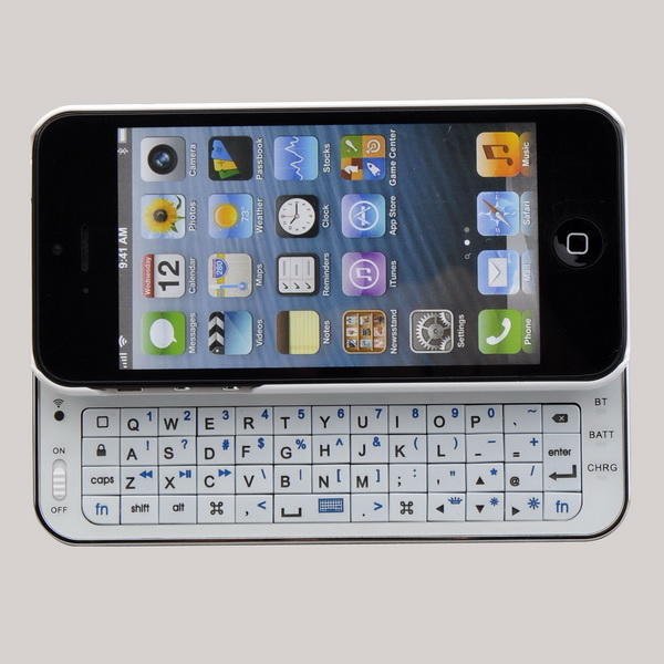 f4cdb943432 Ultra-thin Slide-out Backlit Bluetooth Wireless Keyboard Case For IPhone  4/4s on Luulla